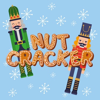 くるみ割り人形とクッキーのクリスマスカード