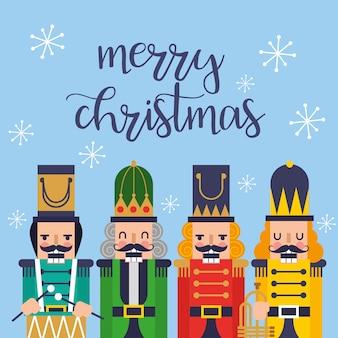 くるみ割り人形のクリスマスカード