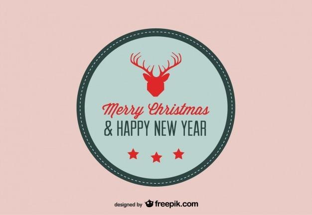 トナカイ記号付きクリスマスカード