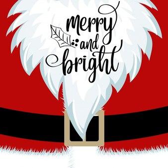 Christmas card with santa beard and costume