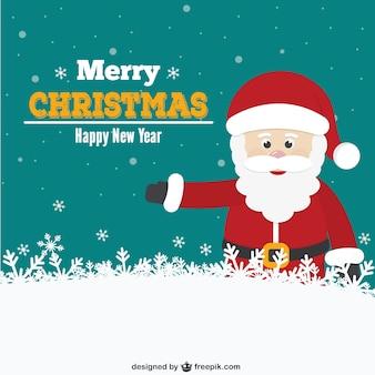 Рождественская открытка с санта мультфильм