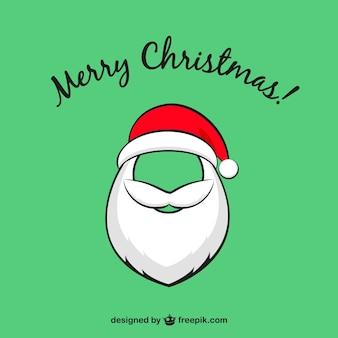 산타 클로스 수염과 크리스마스 카드