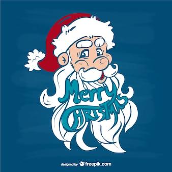 Рождественская открытка с дедом лицо
