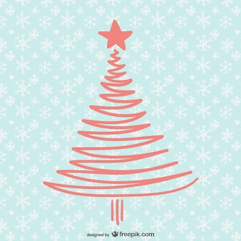 単純なツリーでクリスマスカード