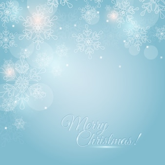 Christmas card with snowflakes .  .