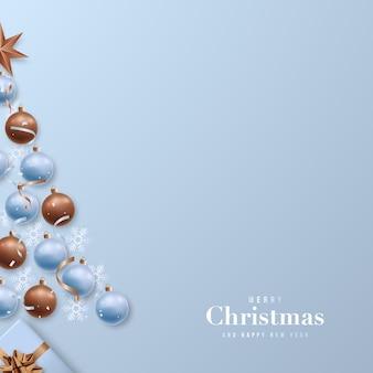 Рождественская открытка с пространством для текста