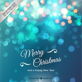 Christmas card with sparkles
