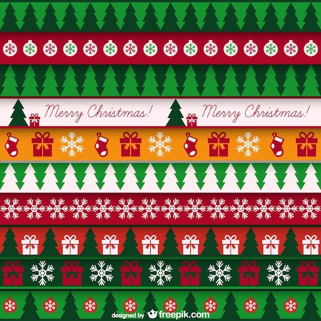 ヴィンテージのパターンとクリスマスカード