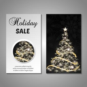 ミニマルなクリスマスカードのデザイン