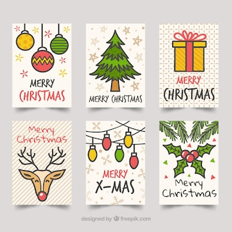 Free Vector Christmas Cards With Drawings