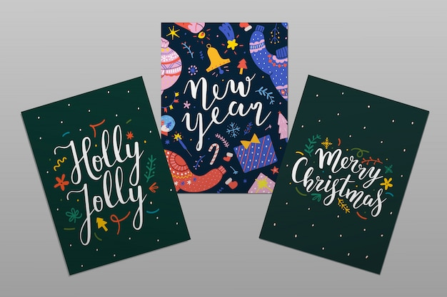 Christmas cards with lettering