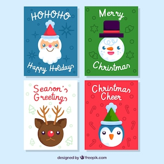 Christmas cards with smiley faces