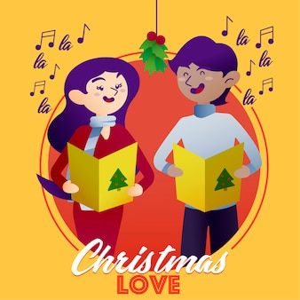 Christmas carols of love