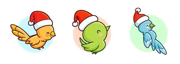 クリスマス漫画の鳥セット