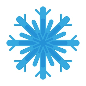 Christmas cartoon festive blue snowflake. merry christmas and happy new year concept.