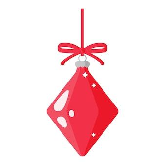 크리스마스 만화 축제 빨간 다이아몬드 나무 장난감입니다.
