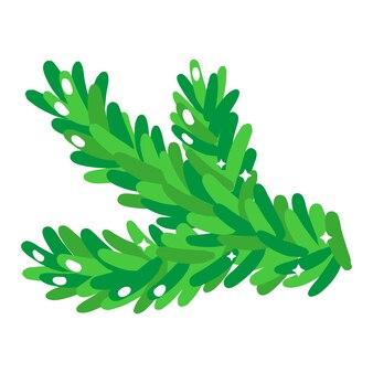 크리스마스 만화 축제 가문비나무 분기입니다. 기쁜 성 탄과 새 해 복 많이 받으세요 개념입니다.