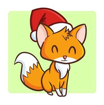 クリスマス漫画キツネ