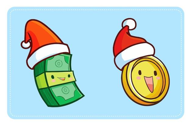 クリスマス漫画のお金のイラスト