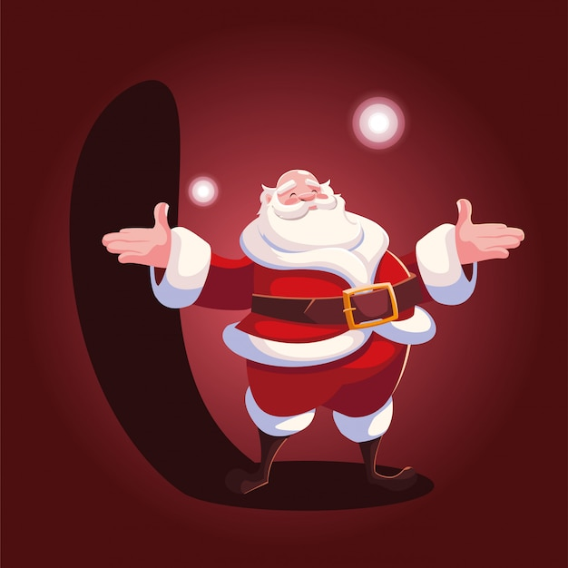 Christmas cartoon of santa claus