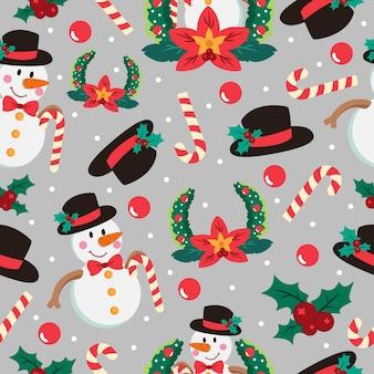 クリスマス漫画のシームレスなパターン