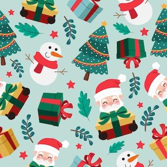Рождественский мультфильм бесшовные модели
