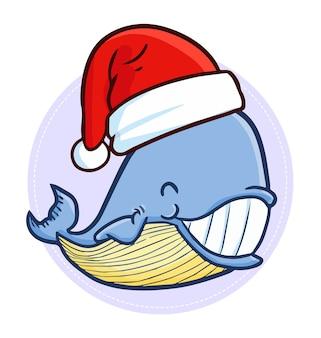 クリスマス漫画のクジラ