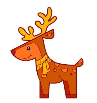 크리스마스 만화 클립 아트입니다. 사슴 클립 아트 벡터 일러스트 레이 션.