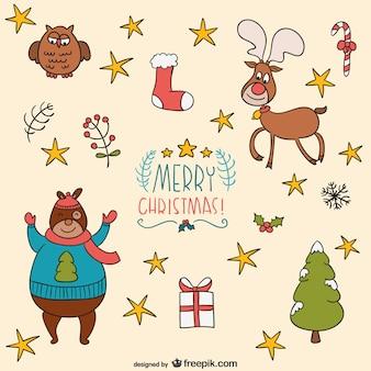 Рождество мультфильмы вектор