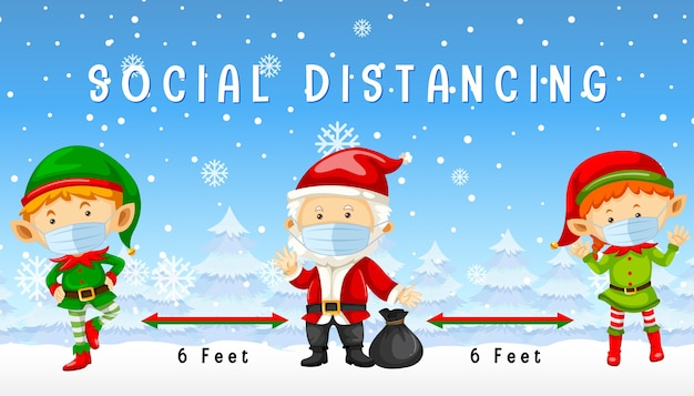 Christmas celebrating with social distancing