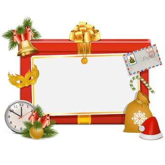 クリスマスのお祝いボードの孤立したイラスト