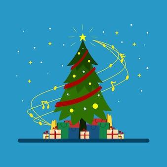 クリスマスのお祝いのイラスト
