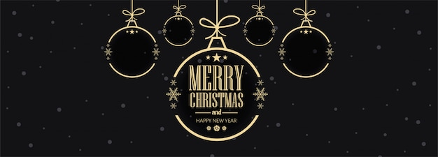 Christmas celebrations card banner template vector illustration