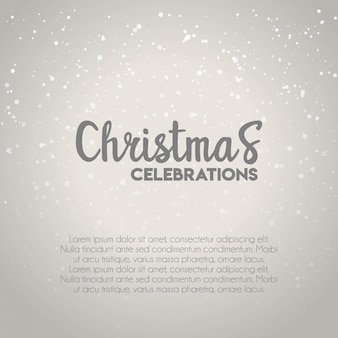 크리스마스 축하 눈 배경