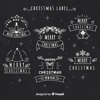 Christmas chalkboard label collection