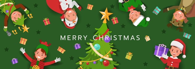 Christmas character for card, banner and background.