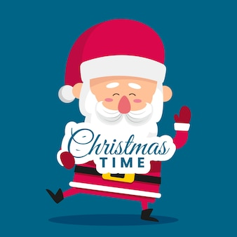Christmas character illustration with lettering