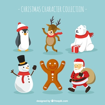 Christmas character pack of six