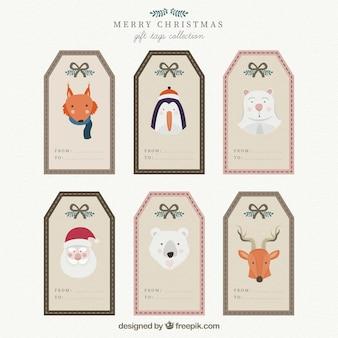 Christmas character tags