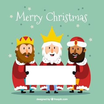 手紙を持つクリスマスキャラクター