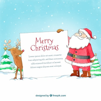 Christmas character with letter