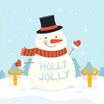 Рождественский персонаж с буквами