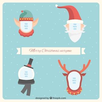 Natale personaggi frame collection