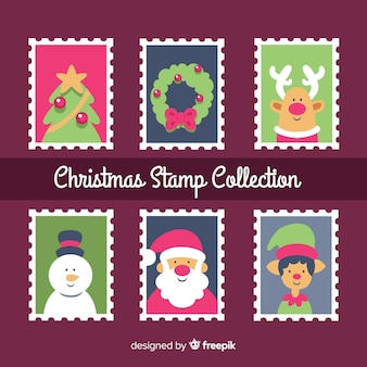 Christmas characters stamp collection