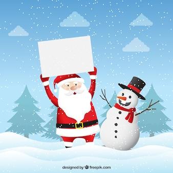 空白のサインを持つクリスマス文字