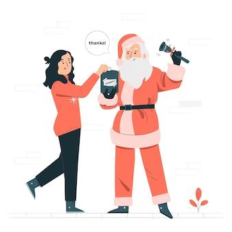 Christmas charityconcept illustration