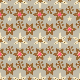 Christmas chic pattern. one of 12 hygge seamless. elegant decoration for holiday season background. xmas endless texture for wallpaper, wrapping paper and etc