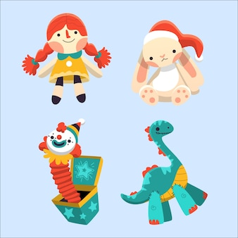 Christmas children toys hand drawn