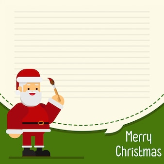 Christmas christmas greeting card and letter paper