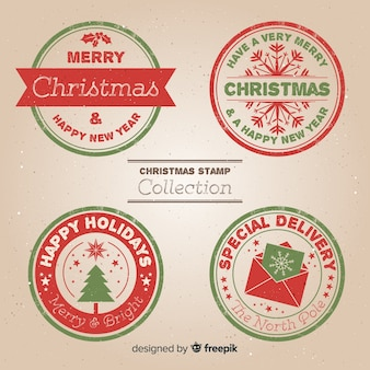 Christmas circle stamps pack
